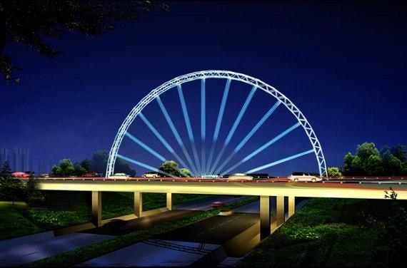 欧式桥效果图